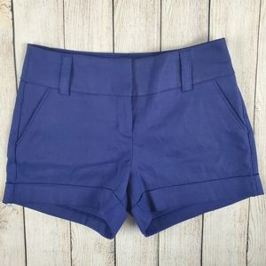 Express NWT blue/purple high rise shorts
